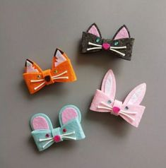 Hair accessories diy kids felt ideas for 2019 - Hair. - Hair accessories diy kids felt ideas for 2019 - Hair. Felt Hair Accessories, Hair Accessories For Women, Handmade Accessories, Felt Hair Clips, Girls Hair Clips, Diy Hair Clips, Felt Hair Bows, Hair Barrettes, Diy Accessoires