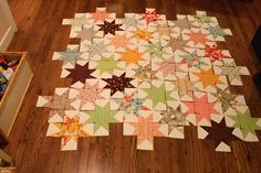 star quilt layout and construction