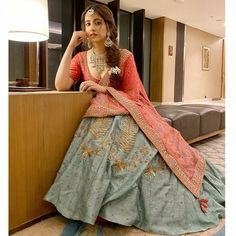 Nupur Sanon – Place4Photos Half Saree Designs, Lehenga Designs, Party Wear Lehenga, Party Wear Dresses, Indian Attire, Indian Outfits, Modern Saree, Lehnga Dress, Indian Gowns Dresses