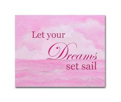 Nautical Girl Nursery Decor, Kids Wall Art, Kids Decor, Pink Nautical, Nursery Quotes, Baby Nursery, Art For Children