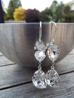 Swarovski Elements Crystal Clear estate style by Sparktacle