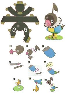 Easy Pokemon Papercraft | chatot chokipeta pokemon