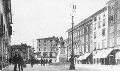 Carrara - Piazza Alberica - Foto tratta da Album della Apuane - La Nazione - 1991