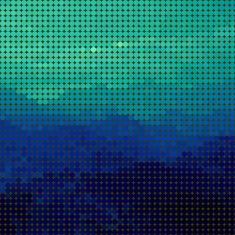 abstract polka dots blue landscape background vector art illustration