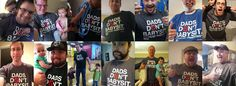 "Love these cool ""Dads Don't Babysit"" tees from the At-Home Dad Network"