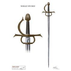 Miraz's Sword--looks evil, doesn't it? Medieval Fantasy, Dark Fantasy, Fantasy Art, Rapier Sword, Narnia Costumes, Narnia Prince Caspian, Swords And Daggers, Concept Weapons, Chronicles Of Narnia