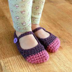 Descarga instantánea Crochet Patrón Chloe zapatillas por Mamachee