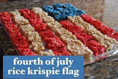 fourth of july rice krispie flag.