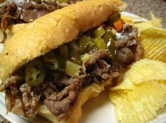 CrockPot Po' Boys (or Italian Beef) Sandwiches