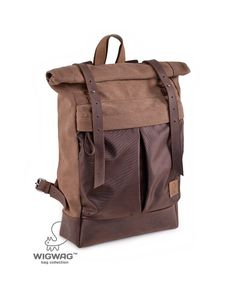 c648ec901f7 Roll Top backpack, canvas leather backpack, roll backpack, hipster  backpack, laptop backpack, men's