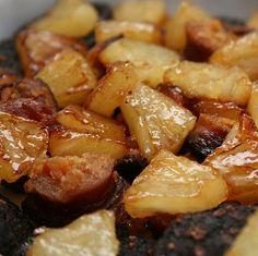 Receita: Morcela de Arroz e Farinheira com Ananas caramelizado