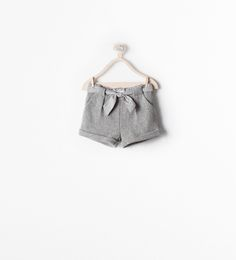 Image 2 of WOVEN SHORTS WITH SASH from Zara