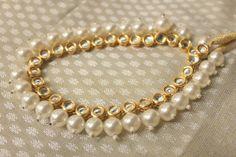Handmade Pearl Kundan Meenakari Choker necklace by ArmCandyForYou, $55.00
