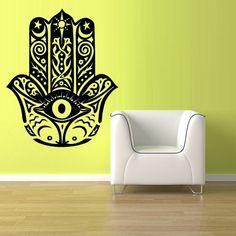 Wall Decal Vinyl Sticker Decals Hamsa Hand Eye Indian Buddha Ganesh (z1353)