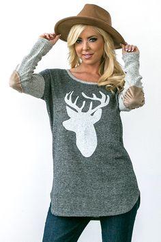 Oh Deer Sweatshirt in Grey