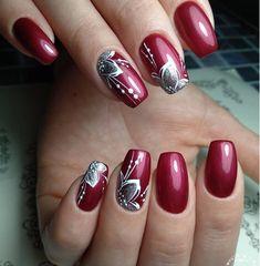 Purple Nail Art, Red Acrylic Nails, Pink Nail Art, Glitter Nail Art, Pink Nails, Manicure Nail Designs, Acrylic Nail Designs, Nail Art Designs, Fancy Nails