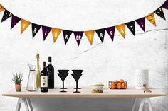 Printable Trick or Treat pennant banner Halloween pennants