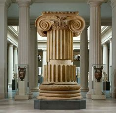 4e5b3581f8 Marble Ionic column from the temple of Artemis at Sardis. Looted artifact  displayed at The