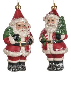 Another great find on #zulily! Vintage Santa Ornament - Set of Two #zulilyfinds