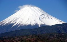 Fuji mountain Japan snow winter