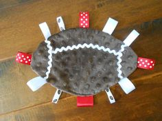 Alabama Football Baby Taggie by SusieCobbsDesigns on Etsy, $15.00