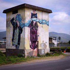 A tower in Fondi (Italy)-jana & js - Street Art by jana & js