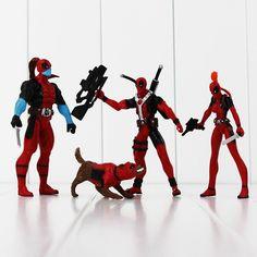 Marvel X-men Dead pool Deadpool PVC Action Figure Collection Model Toy 4pcs/lot