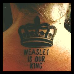 My Ron Weasley/Harry Potter tattoo. I got it at The Parlour Tattoo, in Eugene, Oregon. :)