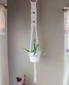 Geometric macrame plant hanger, modern macrame, rope hanger, boho plant hanger, hanging planter, pot hanger, indoor plant hanger by TheEarthDivine on Etsy https://www.etsy.com/au/listing/255902120/geometric-macrame-plant-hanger-modern