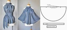 Gode BLUSA ~ Moda y consejos de costura I must of misses this one. Diy Clothing, Sewing Clothes, Clothing Patterns, Sewing Patterns, Doll Dress Patterns, Fashion Sewing, Diy Fashion, Ideias Fashion, Sewing Tutorials