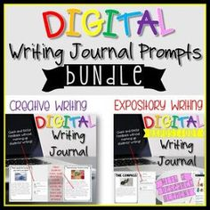 Digital Writing Prompts Bundle by The Techie Teacher