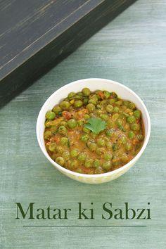 Matar ki sabzi recipe - QUICK, HEALTHY side dish that can be made on regular basis. This green peas sabzi goes perfect with roti, paratha or rice.