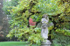 Garden lady statue at Lakewold Gardens in Washington