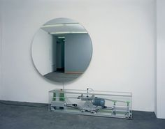 Olafur Eliasson - Air is pumped in and out of the Mylar mirror to make it convex /concave