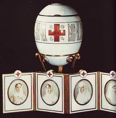 The 47th Imperial Egg ~ 1915 Red Cross Portraits Egg ~ Collection of Lillian Thomas Pratt, Virginia Museum of Fine Arts, Richmond