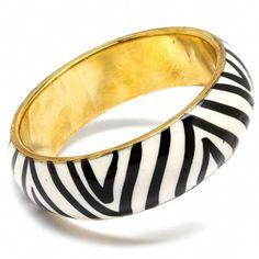 Zebra print bangle