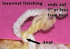 Here is a video demonstration on how to take care of those pesky ends in crochet.