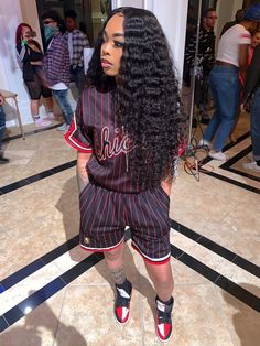 JKSevenhair Grade Deep Wave Brazilian Human Hair 3 Bundles with Frontal Cute Swag Outfits, Tomboy Outfits, Chill Outfits, Dope Outfits, Trendy Outfits, Black Girl Fashion, Tomboy Fashion, Teen Fashion, Fashion Outfits