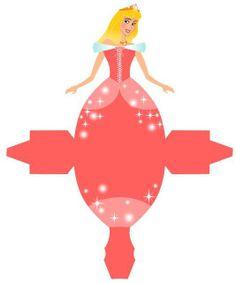 Oh My Fiesta! in english: Free Printable Sleeping Beauty Party Favor Box. Disney Princess Birthday, Princess Theme, Princess Aurora, Princess Bubblegum, Sleeping Beauty Party, Disney Paper Dolls, Paper Art, Paper Crafts, Disney Printables