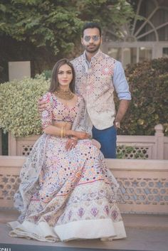 wedding couple The Coolest Wedding Ideas We Spotted In 2018 Real Weddings On WMG! Couple Wedding Dress, Wedding Dresses Men Indian, Indian Bridal Outfits, Wedding Couples, Indian Weddings, Wedding Poses, Wedding Suits, Wedding Outfits For Men, Wedding Engagement