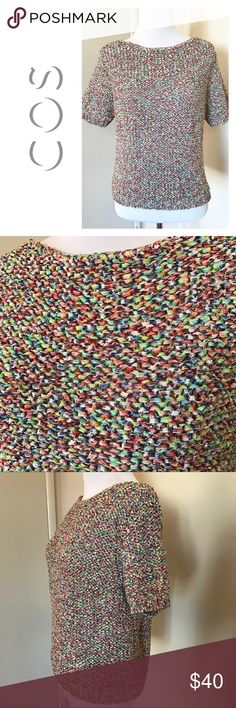 COS - Multi-Colored Knit Top - Sz. S Excellent condition COS multicolored knit top in size small. Runs true to size. COS Tops