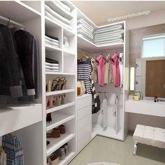 Best Indoor Garden Ideas for 2020 - Modern Walk In Closet Design, Closet Designs, Wardrobe Room, Closet Bedroom, Girls Dressing Room, Organizar Closet, Closet Mirror, Closet Island, Closet Door Makeover