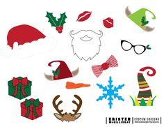 101 days of christmas printable photo booth props roundup free christmas photobooth props solutioingenieria Images