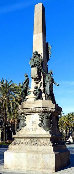 Monument a Francesc Rius i Taulet  1901  Artists: Manuel Fuxà i Leal, Pere Falqués i Urpí, Eusebi Arnau i Mascort