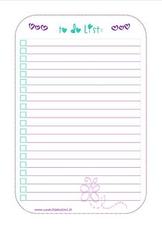 To Do List for #filofax A5