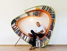 The ultimate book reading chair (and bookcase in one).