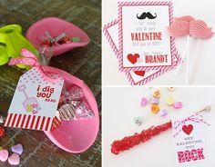 DIY Valentine's Day Class Treats - #DIY #Valentines #printables