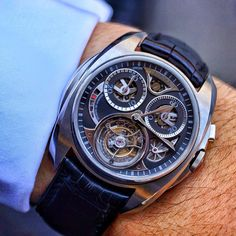 A hands on review on WatchAnish.com today of the @Akrivia Watch Saturne tourbillon monopusher chronograph! Made by 2 guys with a history of watchmaking at Chopard, Patek Philippe and F.P Journe. Visit the site for many more pictures and a great article written by our very own @MrWatchGuide Web Instagram User » Followgram