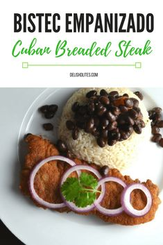 Bistec empanizado is a deliciously satisfying Cuban version of chicken fried steak, featuring a tangy marinade and a crunchy cracker crumb coating. Cuban Recipes, Beef Recipes, Baking Recipes, Spanish Recipes, Portuguese Recipes, Yummy Recipes, Dinner Recipes, Breaded Steak, Bon Appetit