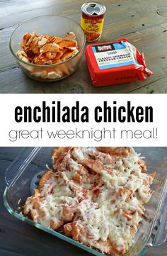 Easy enchilada chicken. A great weeknight meal!